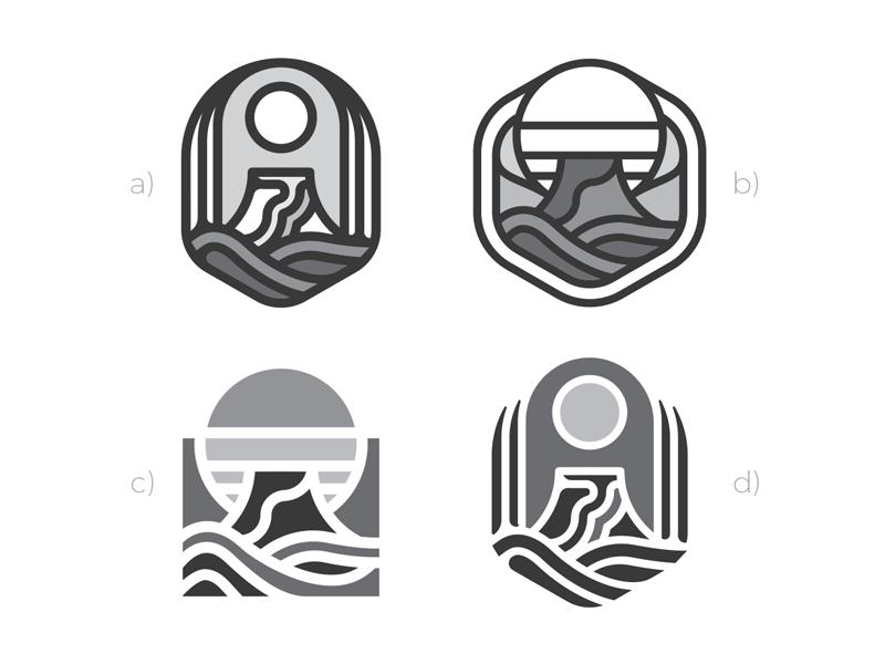 Volcano logos
