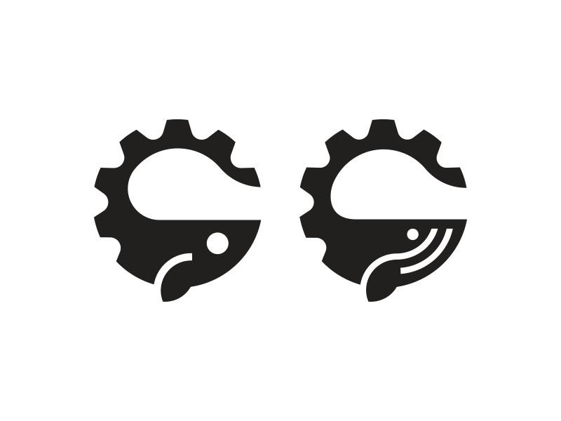 Cog / Whale / Fish / Logo