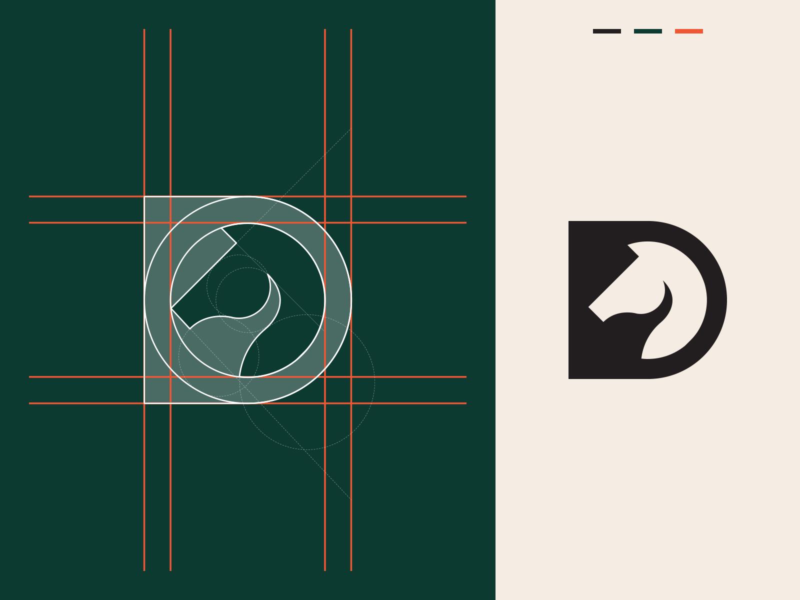 Horse + D Letter Logo Concept