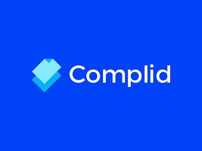 Complid Logo Design app help task checkmark check notes app notes smart design simple lines brand identity symbol mark logo