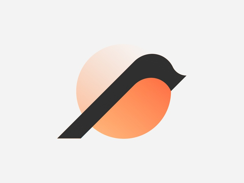 Minimal Bird Mark bird icon bird logo bird illustration sunburn colorfull gradient minimal bird animal abstract simple brand identity symbol mark logo
