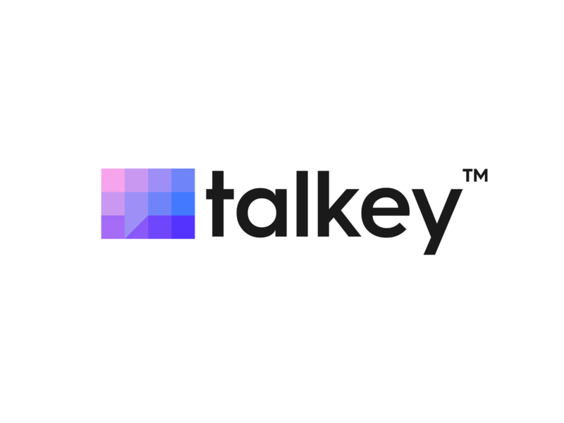 Talkey Logo Design connection bubbles chat app branding illustration app communication community bubble chat clever abstract brand identity symbol mark logo