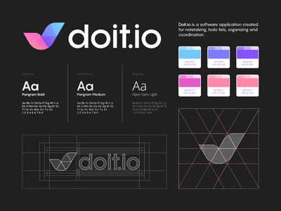 DoIt , Note-taking application! - Logo & Branding behance construction logo grid checkbox branding and identity branding todo checklist organized task do it checkmark check abstract lines brand identity symbol mark logo