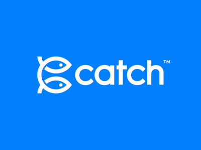 Catch Logo Design branding smart design clever brand identity symbol mark logo monogram letter mark monogram initial fishes catch fish c