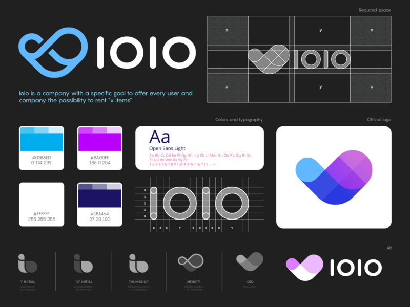 Ioio Logo Design & Branding abstract infinity thumbs up o i branding smart initial design clever brand identity mark symbol logo mark jojo logo
