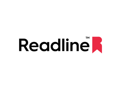 Readline Logo Design & Branding best smart minimal simple tag initial r red brand lines branding design clever identity symbol mark logo bookmark read