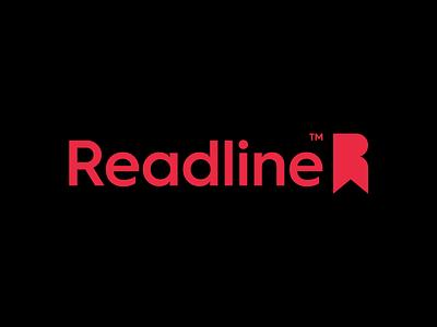 Readline Logo Design & Branding best smart minimal simple tag initial r red brand lines branding design clever identity symbol mark logo bookmark read