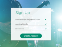 Daily UI :: 001 Sign Up
