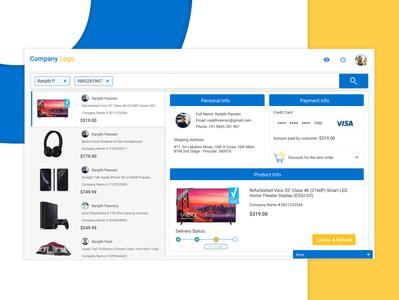 E-commerce Customers Info Tracking Dashboard Design