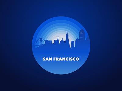 San Francisco silicon valley city gradation location san francisco