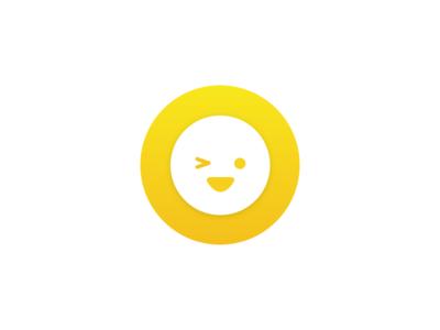 Wink emoticons wink gradients yellow material shadow illustration emoji