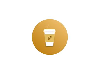 Coffee icon illustration shadows gradients caffeine coffee