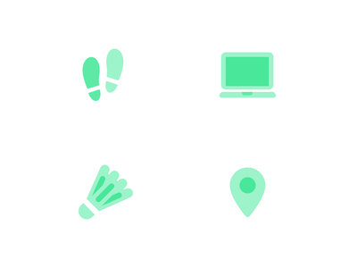 Duo-tone Icons icons design location badminton iconset computer steps icons
