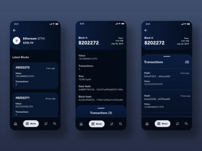 Blockchain Explorer (Dark Mode)