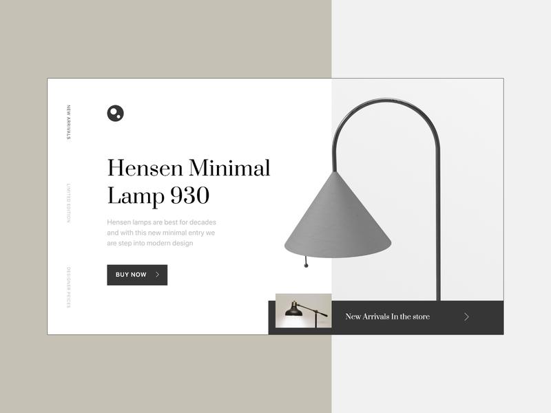 Designer lamp Website web typography website uidesign trending simple minimal ux design ui