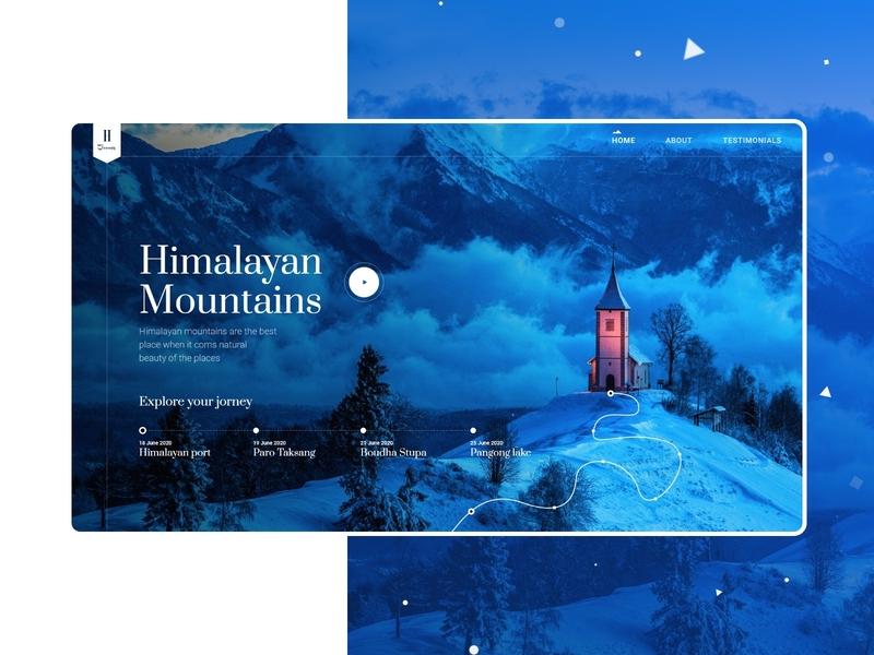 Himalayan Journey Website journey mountains websites websitedesigner website concept photoshop adobexd uidesigner ui websitedesign uiux ux uidesign website