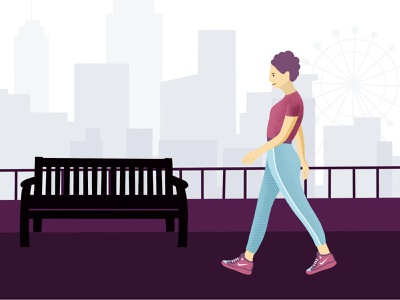 Walk illustration walk vector illustration design