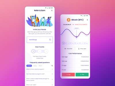 Digital Currency App mobileapp app uidesign ux ui design