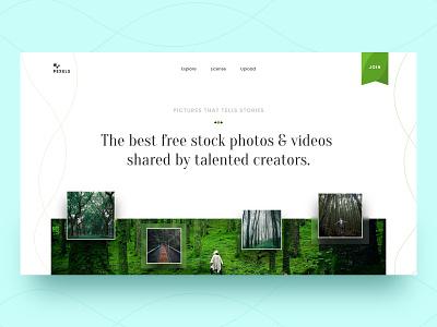 Pexel Redesign uiux website webdesign uidesign design ui