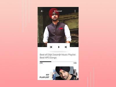 Day 009 - Music Player - Daily UI player music designer ux ui challenge dribbble dailyui