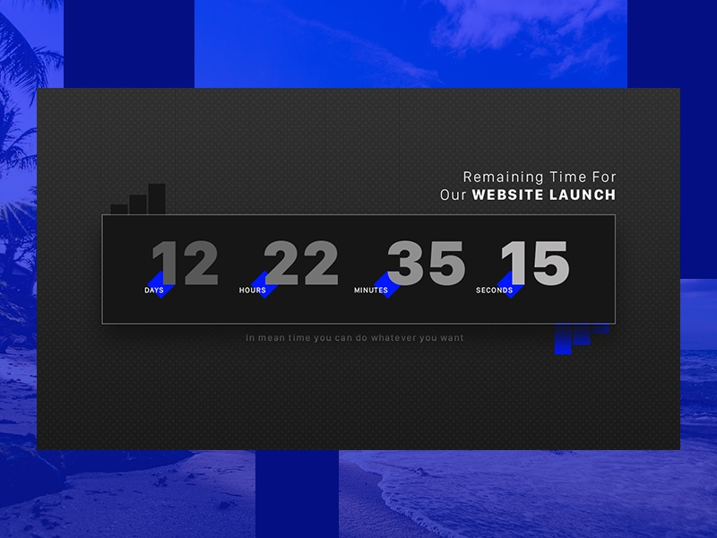 Day 014 - Countdown timer - Daily UI launch website timer countdown ux ui dribbble