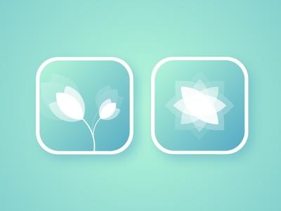 Flowers app icons trending dribbble design app simple icon vector branding logo illustration