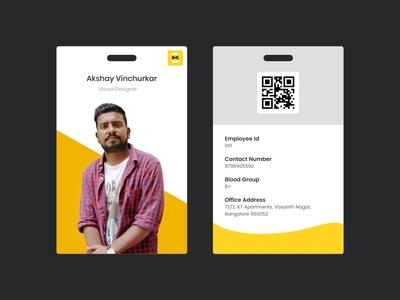 id card branding simple card idcards vector minimal