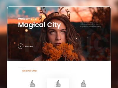 Magic Hero challenge website simple trending minimal dribbble design magical explore uidesign uiux ui magic