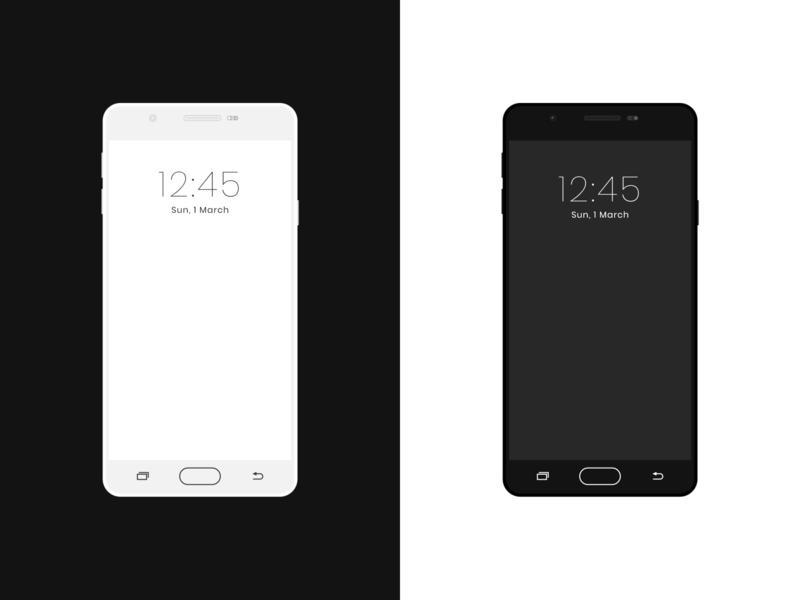 Samsung j7 prime Mockups vector illustration app uidesign simple minimal design ui