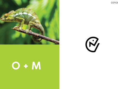 Logo design for 'Onkar Mehta' ui branding budget logo logo gift chameleon logo o and m logo om logo logo inspiration india logo logo concept neat logo minimalism minimalistic flat graphic design logo logo design