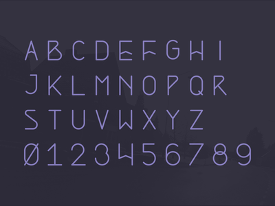 Alpine typeface preview