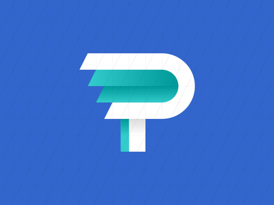 Perdido's P blue p perdido marca logotipo mark brand logo