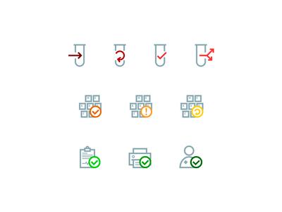 Exam status icons