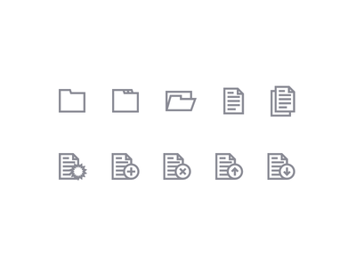 Files and folders document file folder icons