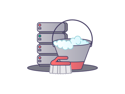 Clear Database cleaning base de dados limpar icon illustration database clear