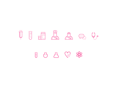 Medical app icon set chat talk health heart icons icon set nurse doctor medicine medical