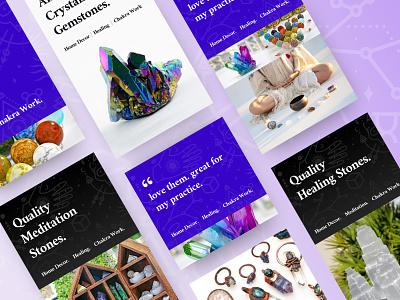 Crystal Gemstone  |  Facebook Creative zenyatta purple gradient google social socialmedia facebook ads ads facebook crystal purple vector ui network saas design branding colortheory uiux