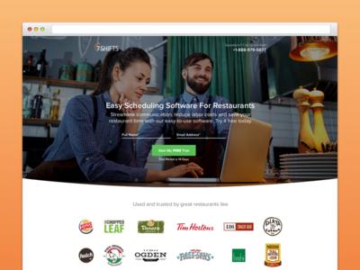 7Shifts Landing Page graphic design conversion design ux design klientboost restaurant