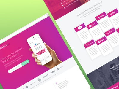 AskNicely Free Trial Refresh color theory conversion rate optimization user interface magenta luxury landpage saas asknicely uiux