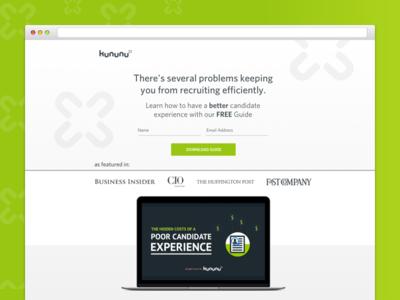 kununu Candidate Guide Refresh kununu network jobs design colortheory graphicdesign landingpage green branding webdesign glassdoor uiux