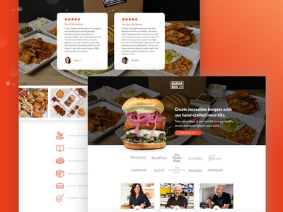 BurgaBox General Page yelp network red design colortheory graphicdesign landingpage food branding webdesign burgers uiux