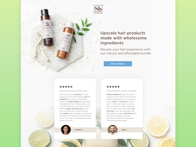 Soapbox Soaps General Page branding design colortheory graphicdesign landingpage green neon coconut haircare webdesign beauty uiux