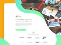 Office Beacon Graphic Design Landing Page