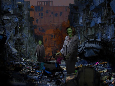 Eternal Legislators walker apocalypse ruins zombie legislators eternal politics mcconnell mitch pelosi nancy