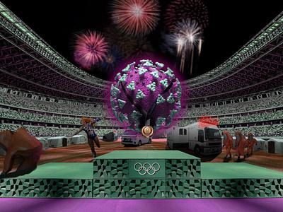Run Rona Run rona run fireworks stadium weed shacarri richardson marijuanna jane mary vaccine corona virus covid coronavirus gold olympics