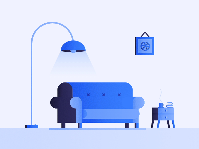 Living room by sherry jie dribbble for Hashicorp careers