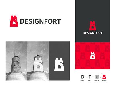 Digital Agency Logo brand identity logodesign digitalagency fort icon identity modern mark logotype illustration design minimal logo branding
