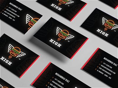 Creative Brand Identity resturant card creative black visitingcard branding and identity branding concept branding design businesscard gradient identity mark illustration minimal branding