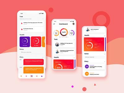 Diet Control Application ui design uiux trendy popular mobile app mobile ui gradient simple design ui modern minimal design app design