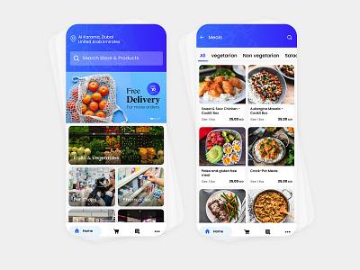 Delivery App Mobile UI mobile app design mobile ui mobile app flat vector gradient ux ui app modern illustration design minimal